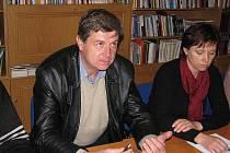 Starosta Blatnice Vladimír Hanák  a Svatava Blahynková.
