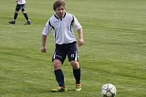 Fotbalisté Vacenovic se museli v nedělním zápase s Uhřicemi obejít bez zraněného záložníka Michala Bízy (na snímku).