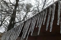 Procházka Dúbravou má své kouzlo i v zimě. Teploměr ukazoval v době vzniku snímků minus jedenáct stupňů.
