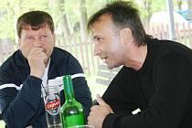 Kouč Vacenovic Petr Kopl (vlevo) a předseda JmKFS Pavel Blaha.