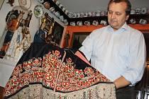 Nejvíce jsou v Lungově sbírce zastoupeny fjertůšky z Kyjovska.