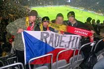Ondřej Šebesta, třiatřicetiletý sportovní nadšenec, navštívil zápas Dortmundu s Arsenalem společně s otcem a kamarády Dušanem Helískem a Radimem Brumlou.