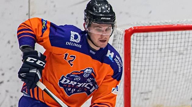 Hodonínský hokejista Jakub Čejka.