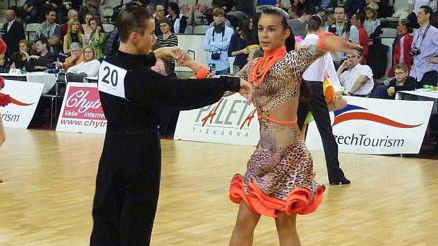 Hodonínský taneční pár Nikolas Novák – Klára Adamová.