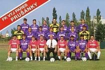 Jiří Paška přivedl do Prušánek hvězdný tým, který jasně ovládl divizi v sezoně 1994/95.