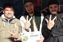 Na snímku zleva: Vladimír Tomeček, Ladislav Lukács, Vladimír Tomeček.