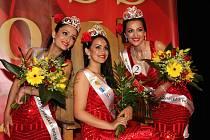 Česko-slovenská Miss Roma Kristýna Balážová, první vicemiss Saskia Surmajová a druhá vicemiss Ingrid Olachová.