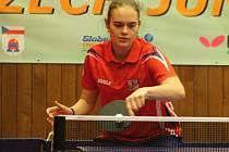 Mladá hodonínská stolní tenistka Anežka Ilčíková postoupila na letošním Czech Junior & Cadet Open mezi dvaatřicet nejlepších juniorek.