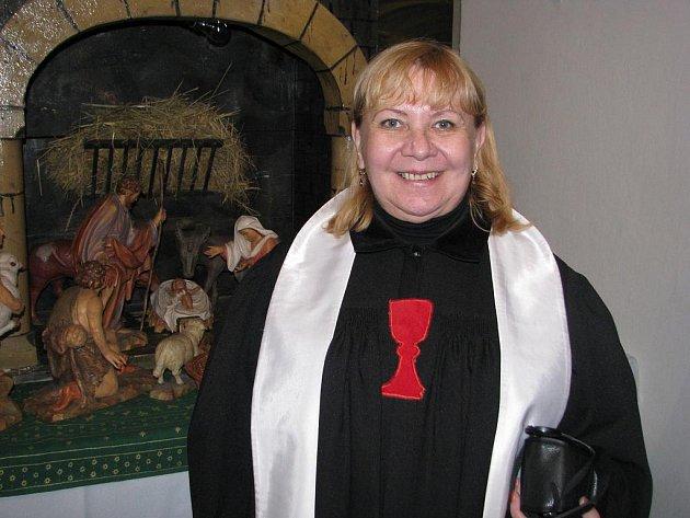 Dana Konečná je farářkou československé církve husitské v Hovoranech.