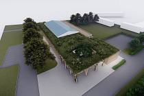 Návrh nové podoby kulturního domu v Rohatci.