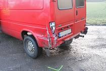 Nehoda osobního auta a dodávky mezi Jestřabicemi a městskou částí Kyjova - Bohuslavicemi.
