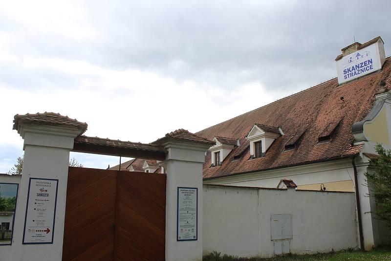 Přístaviště ve Strážnici a jeho okolí v květnu 2021.