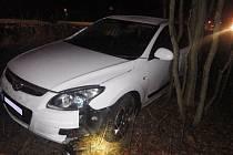 Nehoda čtyř aut v Žarošicích.