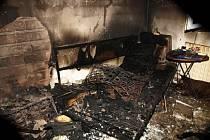 Požár rodinného domku v Moravském Písku.