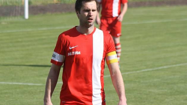 Fotbalisté Milotic prohrály v Rajhradu. Jejich kapitán Radek Šifel (na snímku) se střelecky neprosadil.