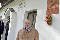 Karel Schwarzenberg navštívil kromě jiného i muzeum T. G. Masaryka v Hodoníně.