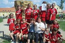 Veselské minižákyně skončila na populárním mládežnickém turnaji ITS cup 2011 druhé.