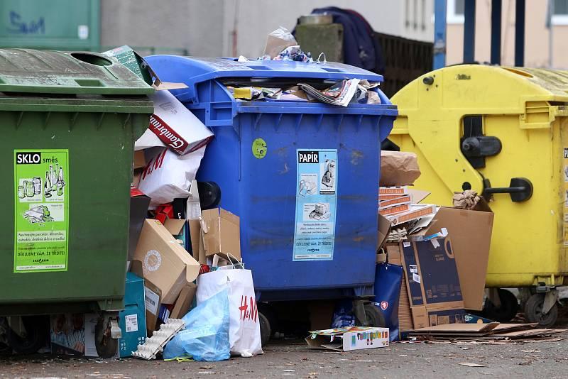 Svoz odpadu, ilustrační foto