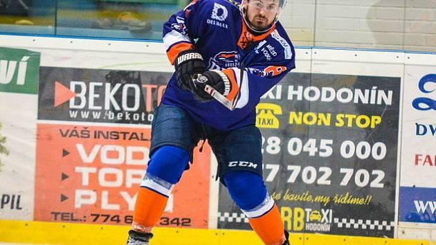 Obránce Drtičů Marek Haloda (na snímku) zaznamenal v úvodních šesti zápasech letošní sezony čtyři gólové přihrávky.