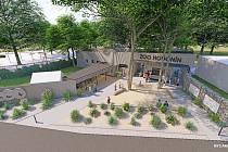 Podoba nového vstupního prostoru hodonínské zoologické zahrady.