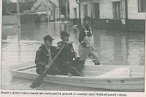 Povodeň v červenci 1997 ve veselské městské části Milokošť.