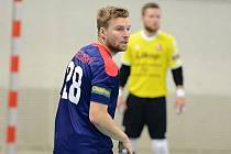 Hodonínští futsalisté budou proti Slavii Praha spoléhat i na Tomáše Veselovského (na snímku), který v posledních dvou zápasech zaznamenal pět branek.