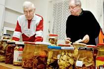 Degustátoři ochutnali v Ratíškovicích téměř osmdesát různých nakládaných hub.