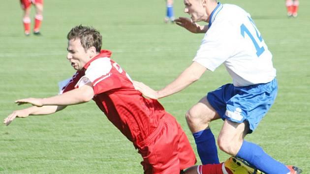 I.A, sk. B: Mogul Vacenovice (v červeném) vs FC Veselí n/M.