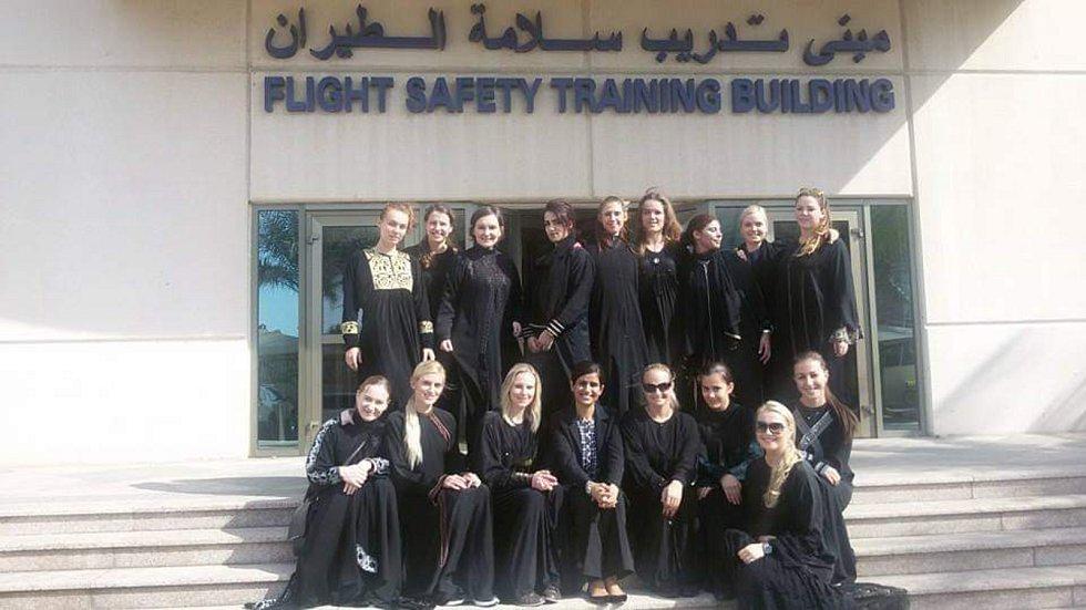 Ze života hodonínské letušky u saudskoarabských aerolinek.