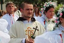 Primiční slavnost novokněze kapucinského řádu Cyrila Josefa Komosného z Dolních Bojanovic.