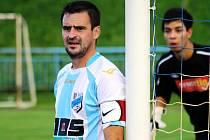 Veselský kapitán Josef Matuška byl po zápase s Blatnicí spokojený.