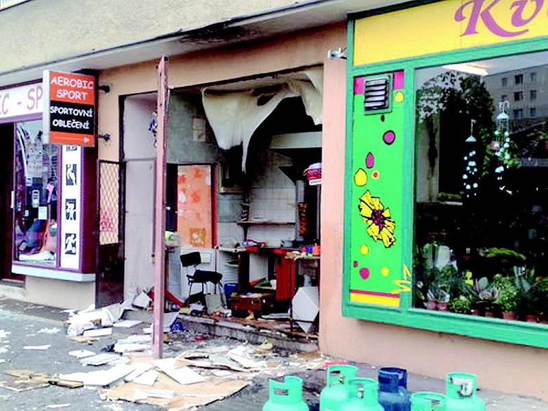 Stánek s občerstvením vybuchl ve Veselí nad Moravou.