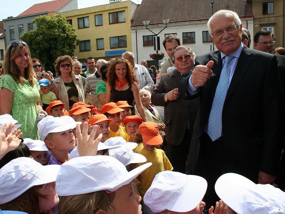 Prezident Klaus na Hodonínsku.