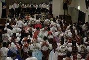 Krojový ples v Hovoranech doprovázela dechová hudba Stříbrňanka.