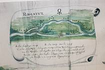 Řeka Morava v Rohatci a jeho okolí včetně staré plavební komory.