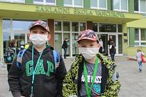 Žáci se vrátili také do tříd prvního stupně v Základní škole Vančurova v Hodoníně.