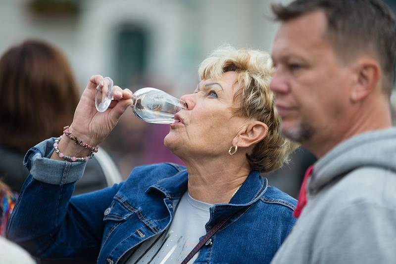 Svátek vína na Masarykově náměstí v Hodoníně.