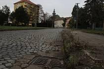 Současný stav Jánošíkovy ulice v Hodoníně.