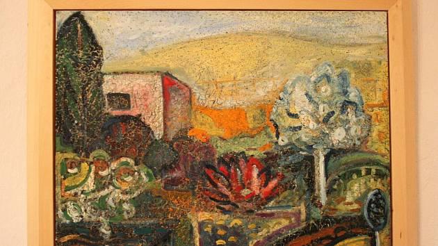 Výstava obrazů Tomáše Prusenovského.