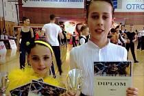 Začínající hodonínský taneční pár David a Linda Ondrušovi uspěl v Kroměříži i Brně.