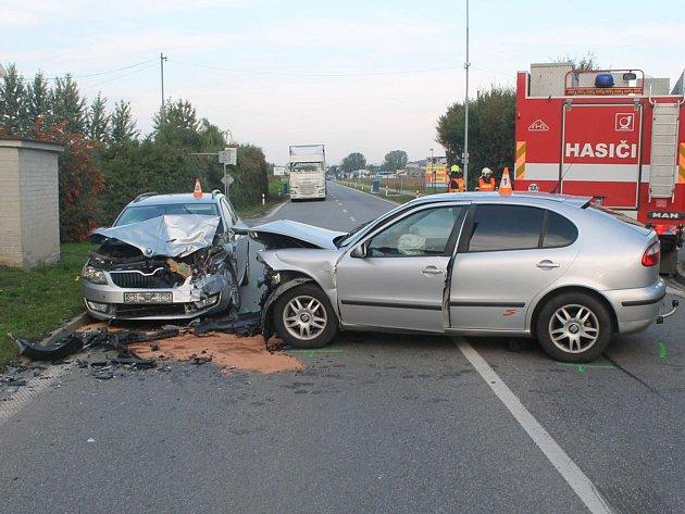 Nehoda na výjezdu ze Bzence.