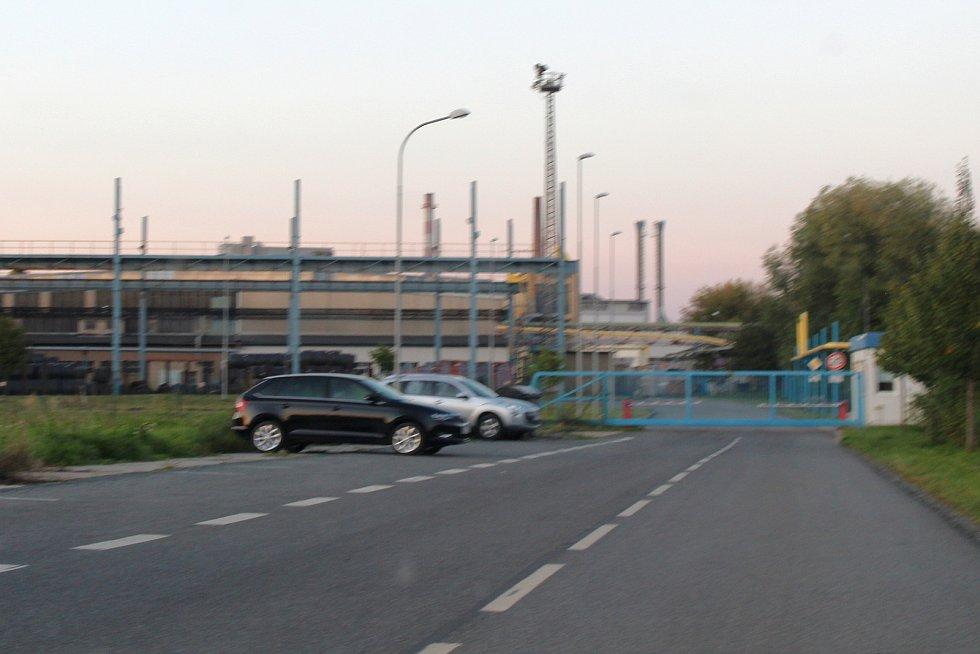 Budoucí Průmyslová ulice na jihu Kyjova.