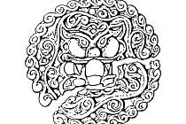 Pozlacená faléra se lví hlavou z Mikulčic.