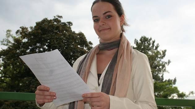 Mladá nadějná pěvkyně Doubravka