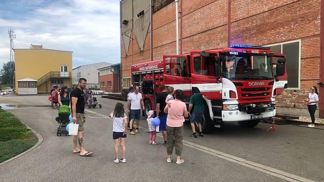 Hry i hasiče si užili děti i dospělí v Ratíškovicích
