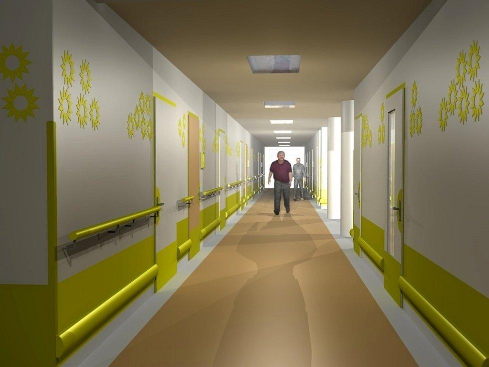 Po nových chodbách nové přístavby Centra služeb pro seniory v Kyjově se šedesát nových klientů bude procházet už letos na Vánoce. K dispozici budou mít dvoulůžkové i jednolůžkové pokoje. Nové budou koupelny i sesterny.