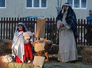 Živý betlém se v Miloticích koná jednou za dva roky. Tentokrát byl teprve potřetí.