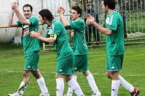 Fotbalisté Kostelce se radují. V příští sezoně budou hrát okresní přebr Hodonínska.