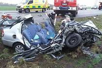 Zranění tří lidí si vyžádala dopravní nehoda na takzvané křižovatce smrti mezi Hodonínem a Ratíškovicemi.