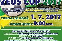 Na hřišti ve Vlkoši se opět po roce uskuteční turnaj v malé kopané. Zeus Cup je letos na programu v sobotu 1. července.